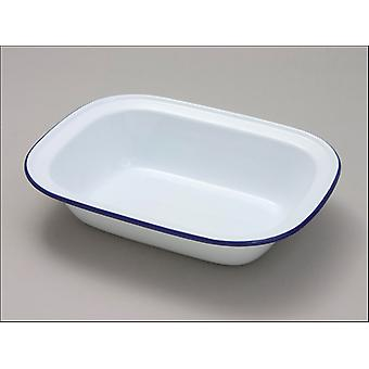 Falcon Oblong Pie Teller Weiß 24cm 44024