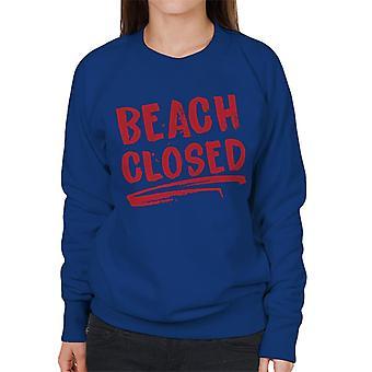 Jaws Beach Stengt Kvinner's Sweatshirt
