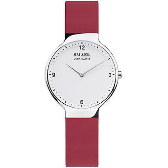 SMAEL 1835 بسيطة المرأة أزياء سيليكون حزام رقيقة الاتصال للماء كوارتز ووتش
