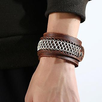 Retro Wide Version Bracelet Soft Leather Vintage Bracelet Black Brown Bracelet