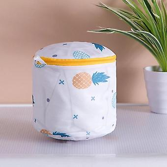 Pineapple Printing Zippered Mesh, Laundry Polyester Washing Net Bag