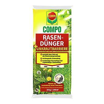 COMPO Lawn fertilizer + weed barrier, 10 kg