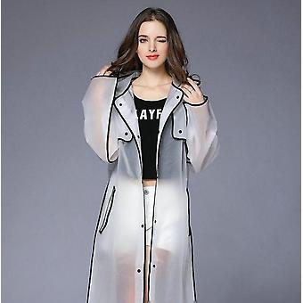 Women Waterproof Long Translucent Raincoat For Adults