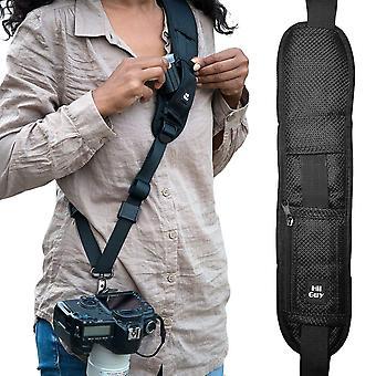 Hiiguy kamerový remienok, nastaviteľný polstrovaný prak pre všetky slr a dslr kamery, krk a ramenný popruh,