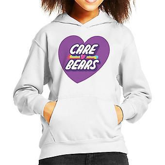 Care Bears Unlock The Magic Purple Heart Kid's Hooded Sweatshirt