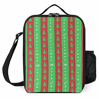 Christmas Tree Printed Lunch Bags Insulated Lunch Cooler Bags For Kid