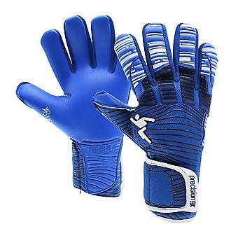 Precision Elite 2.0 Grip negatieve volwassen voetbal doelman Handschoen Blauw