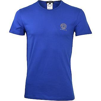 Versace Iconic Koszulka z dekoltem w szyję, Bluette