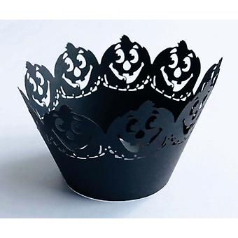 Cupcake Wrapper Decor Baking Cup Hollow Out Paper