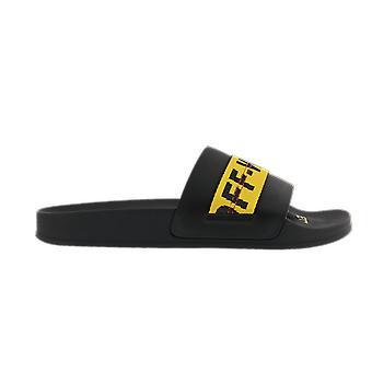 OFF WHITE Industrial Belt Slider Black Y Black OMIC001R21MAT0021018 shoe
