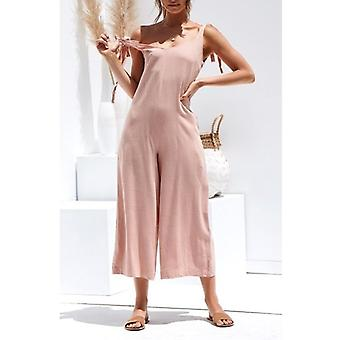 Women Solid Fresh Overalls Jumpsuits Vogue Candy Color Summer Rompers Trousers