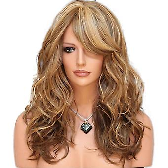 Women Wig Female Wig Hair Multi-Color Medium Long Curly Hair Synthetic Wigs