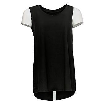 Cuddl Duds Women's Top Flexwear V-Neck Tank Black A302779