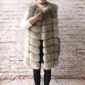 Natural Fox Turkistakki, Real Vest Takki, Women's Pretty Warm Coat