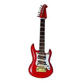 Dolls House Red Washburn Guitar Miniature Music Room Instrument 01:12