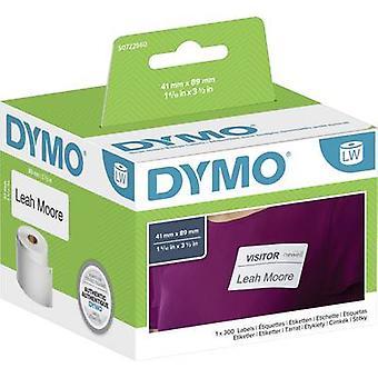 DYMO Label roll 11356 S0722560 89 x 41 mm paperi valkoinen 300 kpl irrotettava nimi tarrat