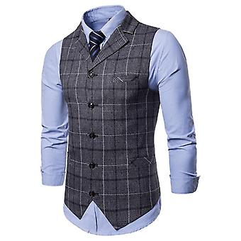 Mens Vest Casual, الأعمال البدلة ذكر, صدرية شعرية, بلا أكمام الذكية