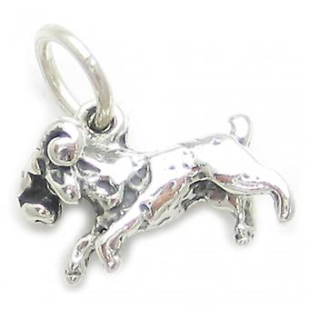 Aries The Ram Sterling Silver Zodiac Charm .925 X 1 Rams Goat Goats Charms - 3713