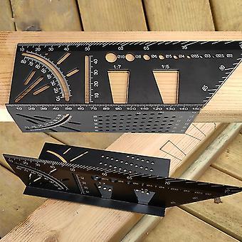 Travail du bois d'angle vertical de modèle de marquage de queue d'aronde d'aluminium/plastique