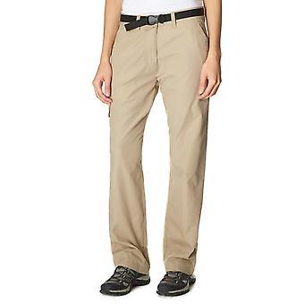 Nieuwe Peter Storm vrouwen dagelijks gebruik comfortabele Walking broek beige