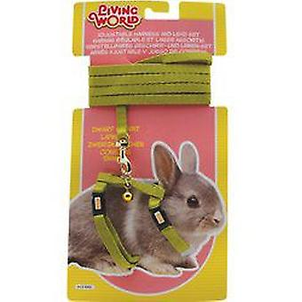 Living World L.W. HARNESS IN GREEN FOR DWARF RABBITS (Small pets , Leads & Harnesses)