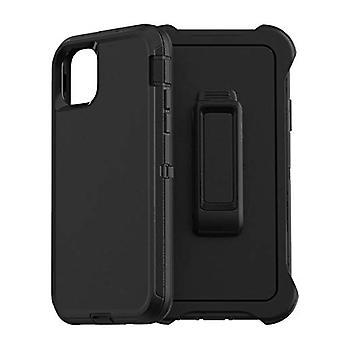Caso de la serie Defender para iPhone 11 Defender Case Triple Layer Defense para iPhone 11 Case Belt Clip Holster Defender para iPhone 11 Case SCREENLESS Edition, Negro 6.1 Pulgadas