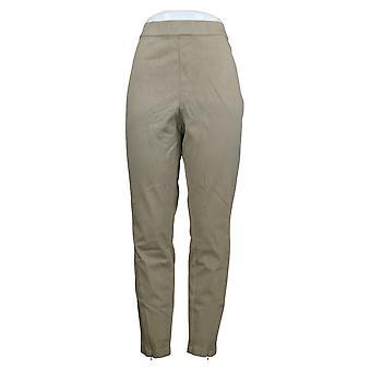 H by Halston Women's Pants Regular Knit Denim Enkel W/ Zip Detail A351208