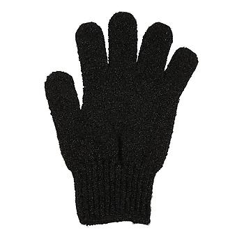 Black Exfoliating Gloves Full Body Scrub Dead Cells Soft Skin Blood Circulation