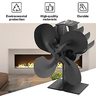 4-blade Heat Powered Stove Fan For Wood / Log Burner/fireplace