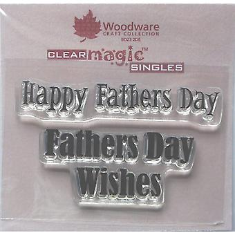 Woodware Clear Minis Счастливый День Отцов 1.5 в x 3 в штампе