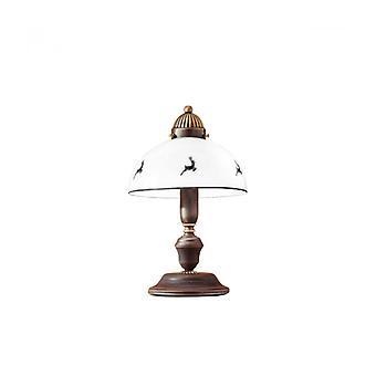 Lámpara De Mesa De Estilo Acogedor Nonna De Latón Antiguo 1 Bombilla