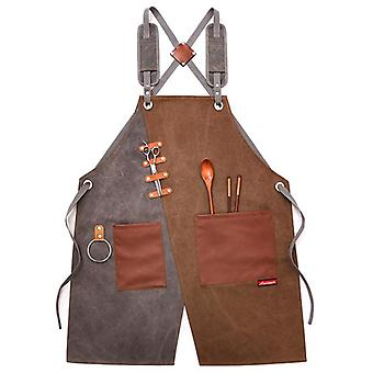 Cowboy Chef Apron, Bbq With Pockets Baking, Grill Kitchen Aprons