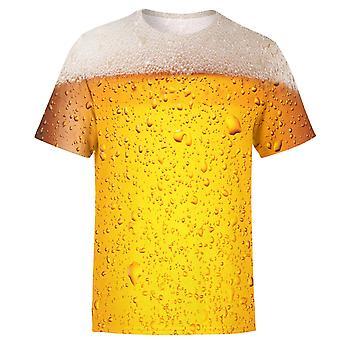 Bier 3d gedruckt T-shirt, Kurzarm Männer & Frauen Kleidung