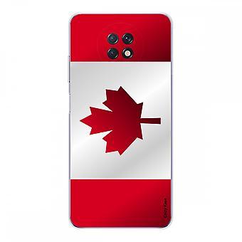 Schale für Xiaomi Redmi Note 9t Aus Weiches Silikon 1 Mm, Kanada Flagge