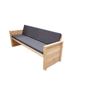 Wood4you - Tuinbank Vlieland - 'Doe het zelf' Bouwpakket Douglas 180Lx72Hx57D cm - Incl kussen