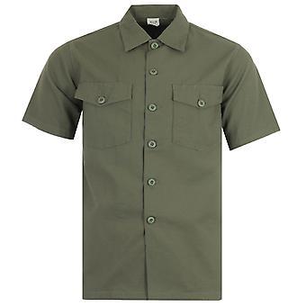 Maharishi Modified Utility Organic Cotton Short Sleeve Shirt - Olive