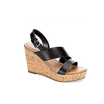 Franco Sarto Womens Leather Open Toe Casual Slingback Sandals