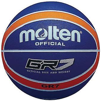 Gerui Official Orange/Blue Rubber Basketball - Size 5