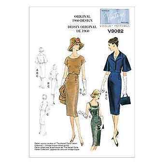 vogue sy mønster 9082 savner jakke topp kjole størrelse 14-22 E5 vintage