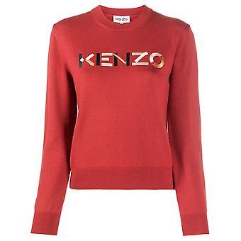 Kenzo kirjailtu logo villapaita