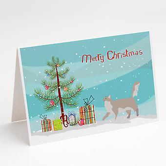 Chantilly Tiffany Kat Glædelig jul lykønskningskort og konvolutter Pack af 8