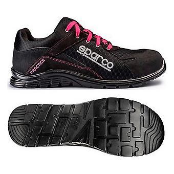 Veiligheidsschoenen Sparco Praktijk Zwart Roze