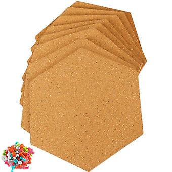Hexagon Self Adhesive Cork Tiles, Wall Bulletin Boards, Pictures, Office, Memo