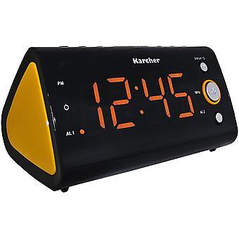 UR 1040-O Uhrenradio (PLL-Radio, Temperaturanzeige, Dual-Alarm) schwarz/orange