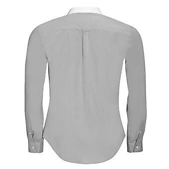 SOLS Mens Belmont Long Sleeve Contrast Poplin Formal Shirt