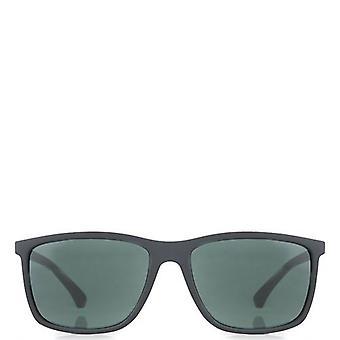 Emporio Armani Rubber Wayfarer Sunglasses