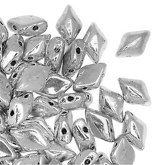 التشيكية GemDuo الزجاج، 2-حفرة الماس على شكل حبات 8x5mm، 8 غرام، لابرادور كامل