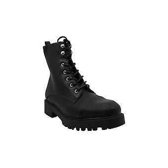 Xoxo Womens Elmhurst Leather Round Toe Ankle Combat Boots