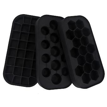 22cm The new silicone ice making tray ice making tray mold from the maker mold manufacturer(Black)