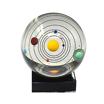 Solar System Miniatures Figurines 3D Planets Model Sphere Feng Shui Crystal Ball Desk Decoration Home Decor Gift for Holiday